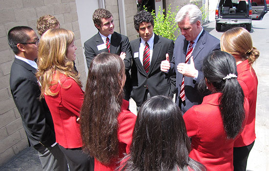History, Congressman Kevin McCarthy with Ford Dimension Students, Ford Dimension, Dream Builders