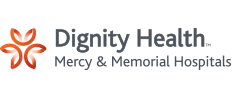 Dignity Health Mercy & Memorial Hospitals Logo, Corporate Sponsor, Jim Burke Education Foundation